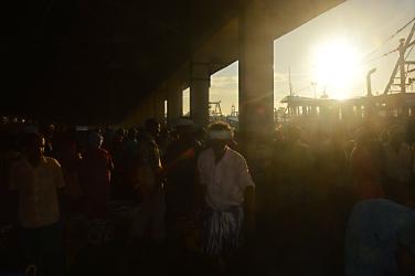 Sunrise at the fishmarket